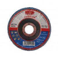 Disc lamelar frontal, pentru otel / inox, Carbochim SFI, 115 x 22 mm, granulatie 80