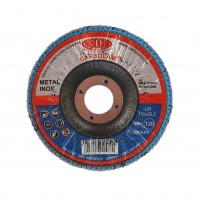Disc lamelar frontal, pentru otel / inox, Carbochim SFI, 115 x 22 mm, granulatie 120