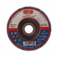 Disc lamelar frontal, pentru otel / inox, Carbochim SFI, 125 x 22 mm, granulatie 120