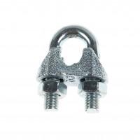 Brida zincata pentru legare cablu otel de 8 mm, Cablero CD011A08U, set 2 bucati