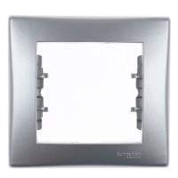 Rama Schneider Electric Sedna SDN5800160, 1 post, aluminiu, pentru priza / intrerupator