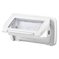 Capac cu rama Gewiss System GW22461, 4 module, IP55, alb, pentru priza / intrerupator