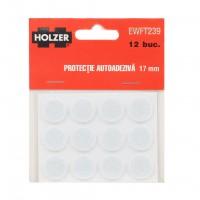 Protectie autoadeziva pentru pardoseala, Holzer EWFT239, forma rotunda, 17 mm, set 12 bucati
