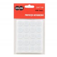 Protectie autoadeziva pentru pardoseala, Holzer EWFT188, forma rotunda, 18 mm, set 100 bucati