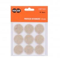 Protectie autoadeziva pentru pardoseala, Holzer EWFT322, forma rotunda, 28 mm, set 9 bucati