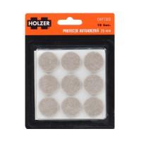 Protectie autoadeziva pentru pardoseala, Holzer EWFT302, forma rotunda, 25 mm, set 18 bucati