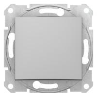 Intrerupator simplu Schneider Electric Sedna SDN0100160, incastrat, aluminiu