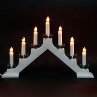 Decoratiune arc cu 7 becuri, Hoff, alb, alimentare priza