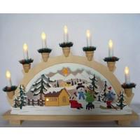 Decoratiune arc cu 10 LED-uri, Hoff, lemn, alimentare priza
