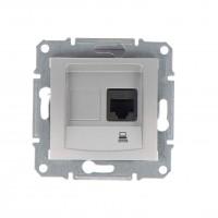 Priza date Sedna SDN4700160, RJ45, incastrata, aluminiu