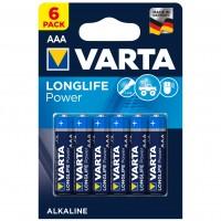 Baterie Varta Longlife Power 4903, AAA / LR3, alcalina, (4+2) 6 buc