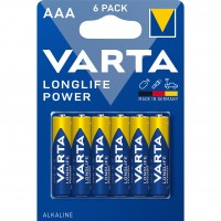 Baterie Varta Longlife Power 4903, AAA / LR3, alcalina, 6 buc