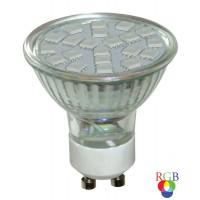Bec LED color Hepol spot GU10 3W lumina RGB