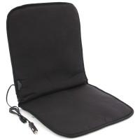 Semihusa auto pentru scaun, Unitec Basic, cu incalzire electrica, neagra, 52.5 x 48 x 4 cm
