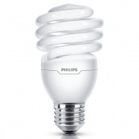 Bec economic Philips Economy Twister spiralat E27 23W 1390lm lumina rece 6500 K