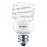 Bec economic Philips Economy Twister spiralat E27 15W 860lm lumina calda 2700 K