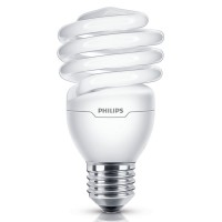 Bec economic Philips Economy Twister spiralat E27 23W 1400lm lumina calda 2700 K