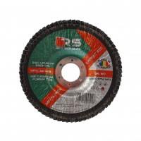 Disc lamelar frontal, pentru otel / inox, Red Square, 125 x 22 mm, granulatie 80