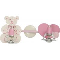 Plafoniera pentru copii Honey 3657, 2 x E14, roz + auriu