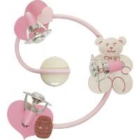 Plafoniera pentru copii Honey 3660, 3 x E14, roz + auriu