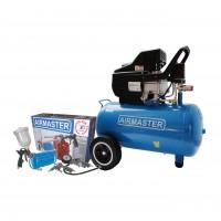 Compresor aer cu piston, cu ulei, Airmaster 210/50, 1.5 Kw, 50 litri + accesorii