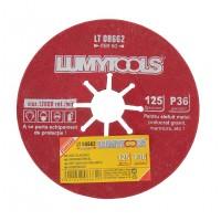Disc abraziv pentru slefuire metal /granit / marmura, Lumytools LT08662, 125 x 22 mm, granulatie 36