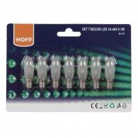 Bec LED Hoff mini 10 - 48V E10 0.1W lumina calda - 7 buc