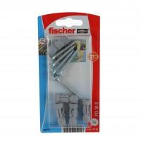 Diblu pentru placi, din nylon, cu surub, Fischer PD 10 S, 10 x 28 mm, set 5 bucati