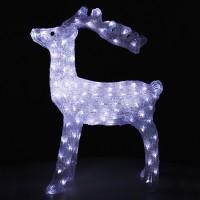Ren cu 160 LED-uri cu lumina alba constanta, Hoff, acril, 75 cm