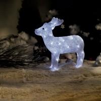 Ren cu 40 LED-uri cu lumina alba constanta, Hoff, acril, 38 cm