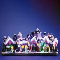 Decoratiune sat, 27 LED-uri multicolore, Hoff, alimentare priza