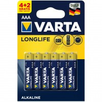 Baterie Varta Longlife 4103, AAA / LR3, alcalina, (4+2) 6 buc