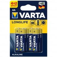 Baterie Varta Longlife 4106, AA / LR6, alcalina, (4+2) 6 buc