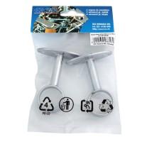 Suport metalic intermediar, pentru bara haine, D 25 mm, set 2 bucati