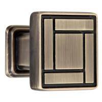 Buton pentru mobila, metalic, grafiat, 28 x 25 mm