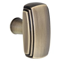 Buton pentru mobila, metalic, grafiat, 40 x 31 mm