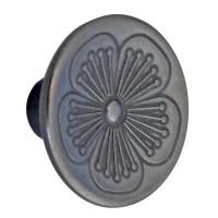 Buton pentru mobila, metalic, negru, 35 x 20 mm