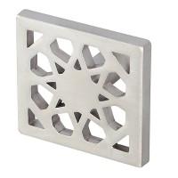 Buton pentru mobila, metalic, nichel mat, 32 x 32 x 25 mm