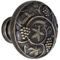Buton pentru mobila, metalic, alamit antic, 32 x 26 mm