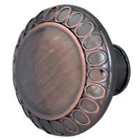 Buton pentru mobila, metalic, cupru antic, 32 x 26 mm