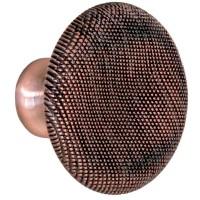 Buton pentru mobila, metalic, cupru antic, 39 x 27 mm