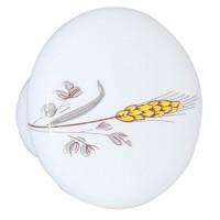 Buton pentru mobila, portelan alb, model spic, 32 x 22 mm