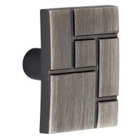 Buton pentru mobila, metalic, nichel antic, 36 x 24.5 mm