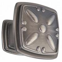 Buton pentru mobila, metalic, nichel antic, 32 x 32 x 25 mm