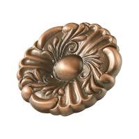 Buton pentru mobila, metalic, cupru antic, 36 x 19 mm