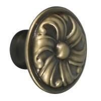 Buton pentru mobila, metalic, alamit antic, 30 x 22 mm