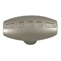 Buton pentru mobila, metalic, nichel satinat, 39 x 23 mm