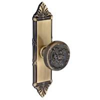 Buton pentru mobila, metalic, cu sild, alamit antic, 115 x 25 x 26 mm