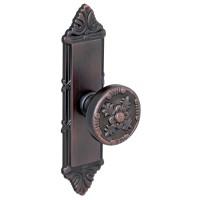 Buton pentru mobila, metalic, cu sild, cupru antic, 115 x 25 x 26 mm
