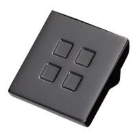 Buton pentru mobila, metalic, nichel negru, 28 x 20 mm